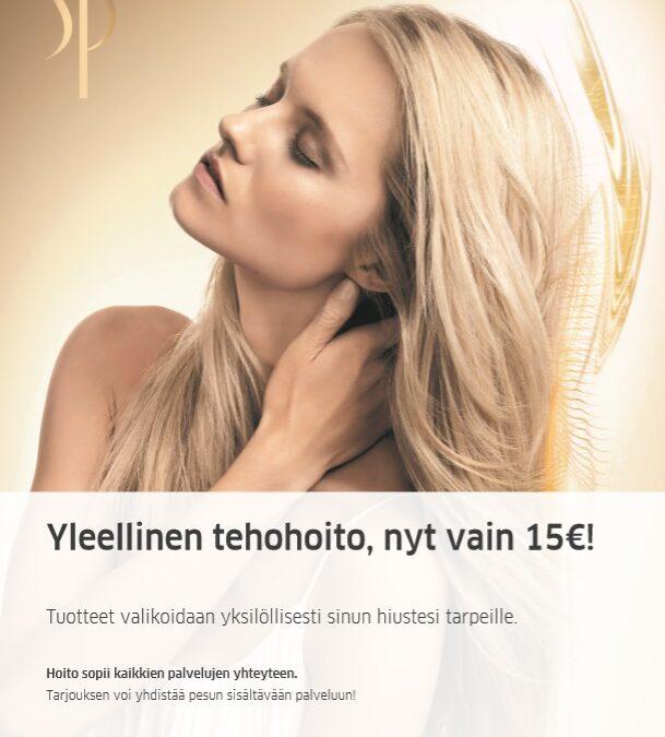 Ylellinen tehohoito nyt vain 15€!